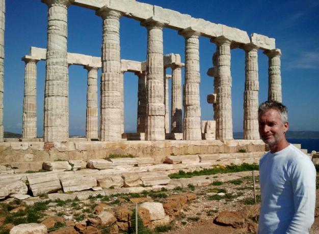 De tempel van Poseidon nabij Athene, kaap Sounio. Ook een must go.