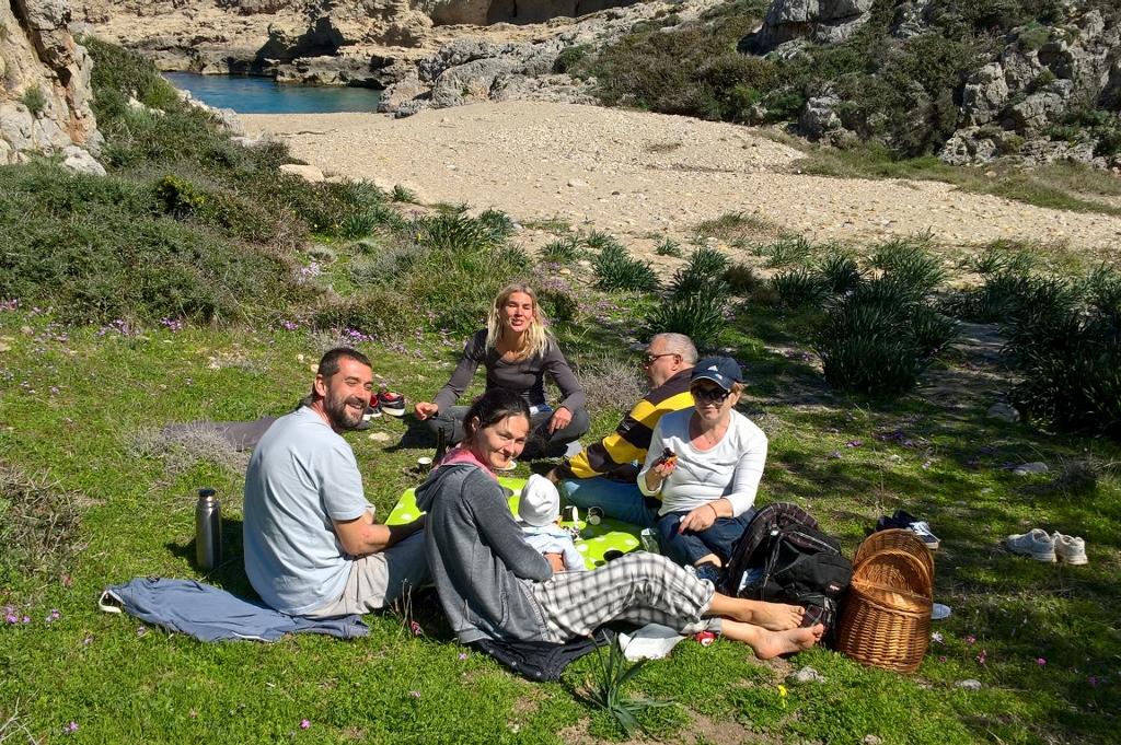 een picknick op het strand