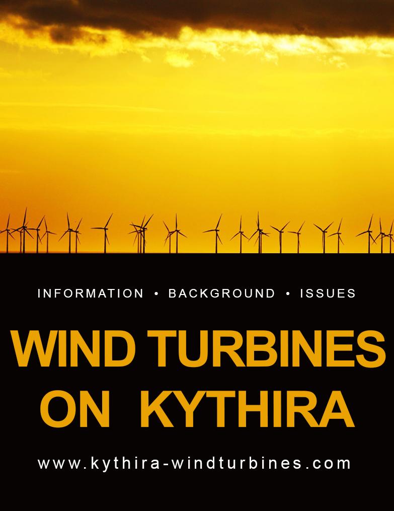 Wind turbines on Kythira